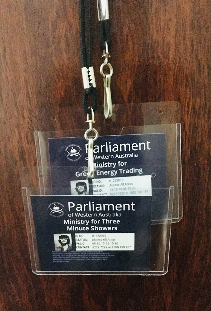 lanyard drop at parliament house