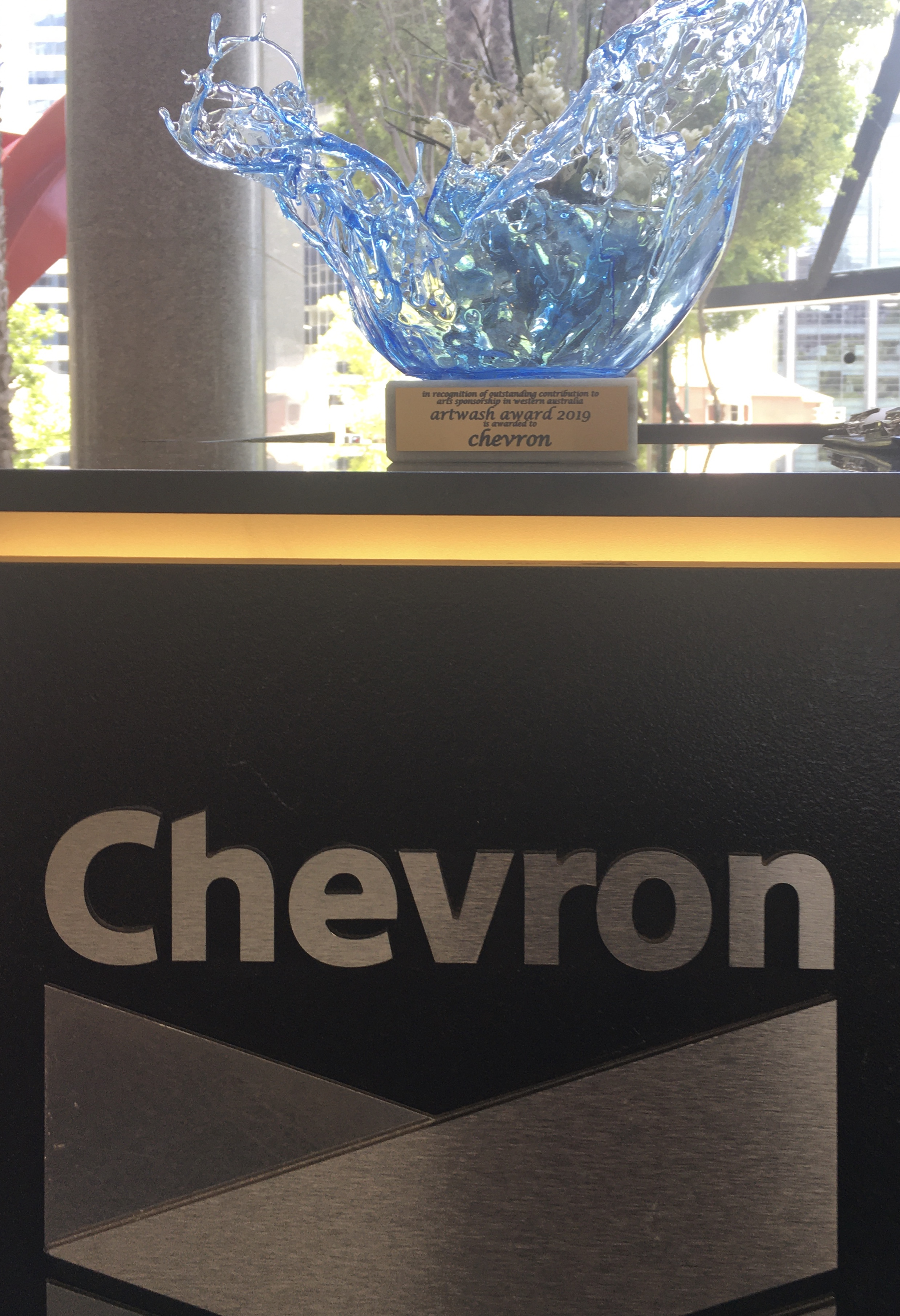artwash award at chevron hq