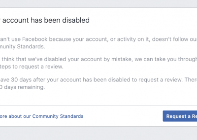 8 account disabled